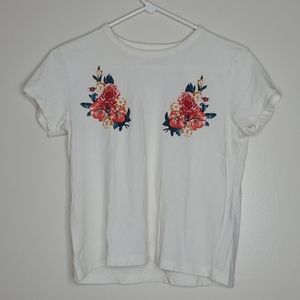 7/$28 Mighty Fine Floral Accent Tee